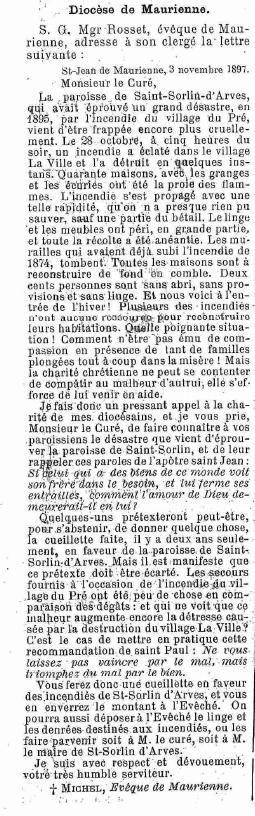 Le Courrier des Alpes, 06/11/1897, disponible en ligne via
