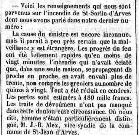 Le Constitutionnel Savoisien, 23/09/1854, disponible en ligne via http://www.memoireetactualite.org/fr/presse.php